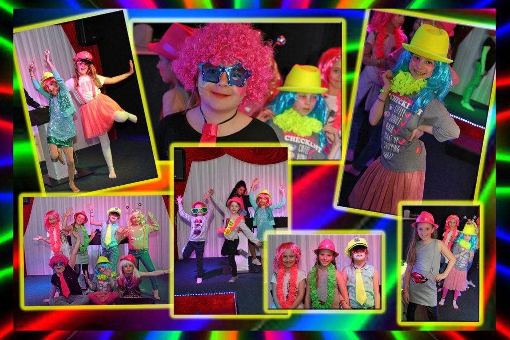 Spectaculair kinderfeest in Almere, een leuke locatie met disco en DJ inclusief blacklight en neon.