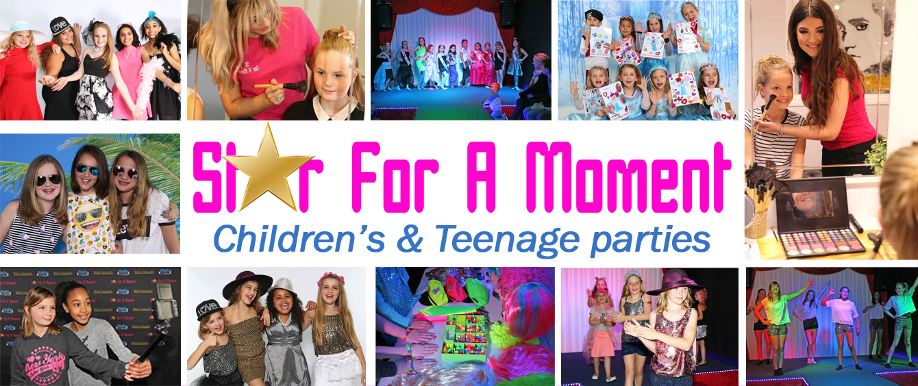 Children and Teenage party in Almere for fun birthday parties, make-up, glamor, catwalk and photos