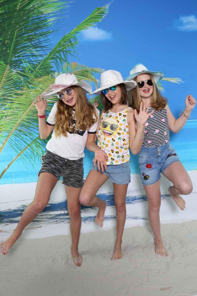 Verjaardagsfeestje voor tieners, Ibiza fotoshoot met make-up feestje in Almere