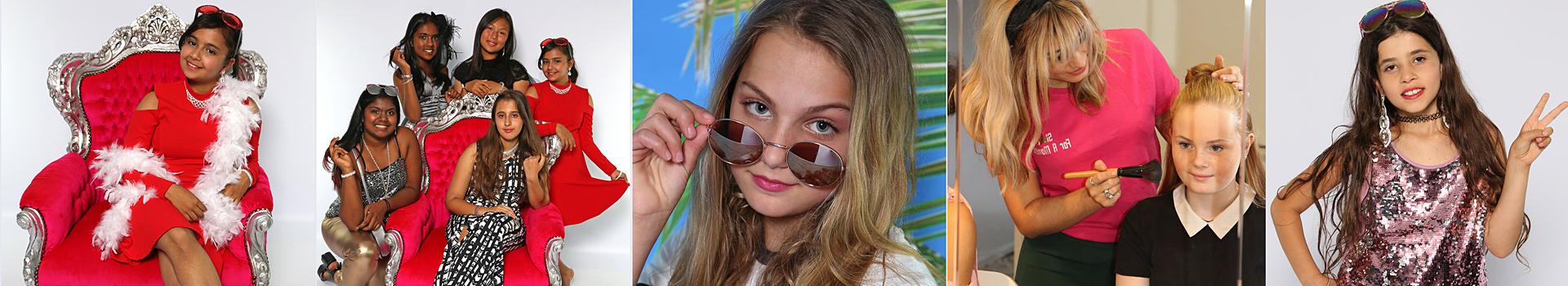 Beauty en Glamour party betaalbaar kinderfeestje met professionele foto's
