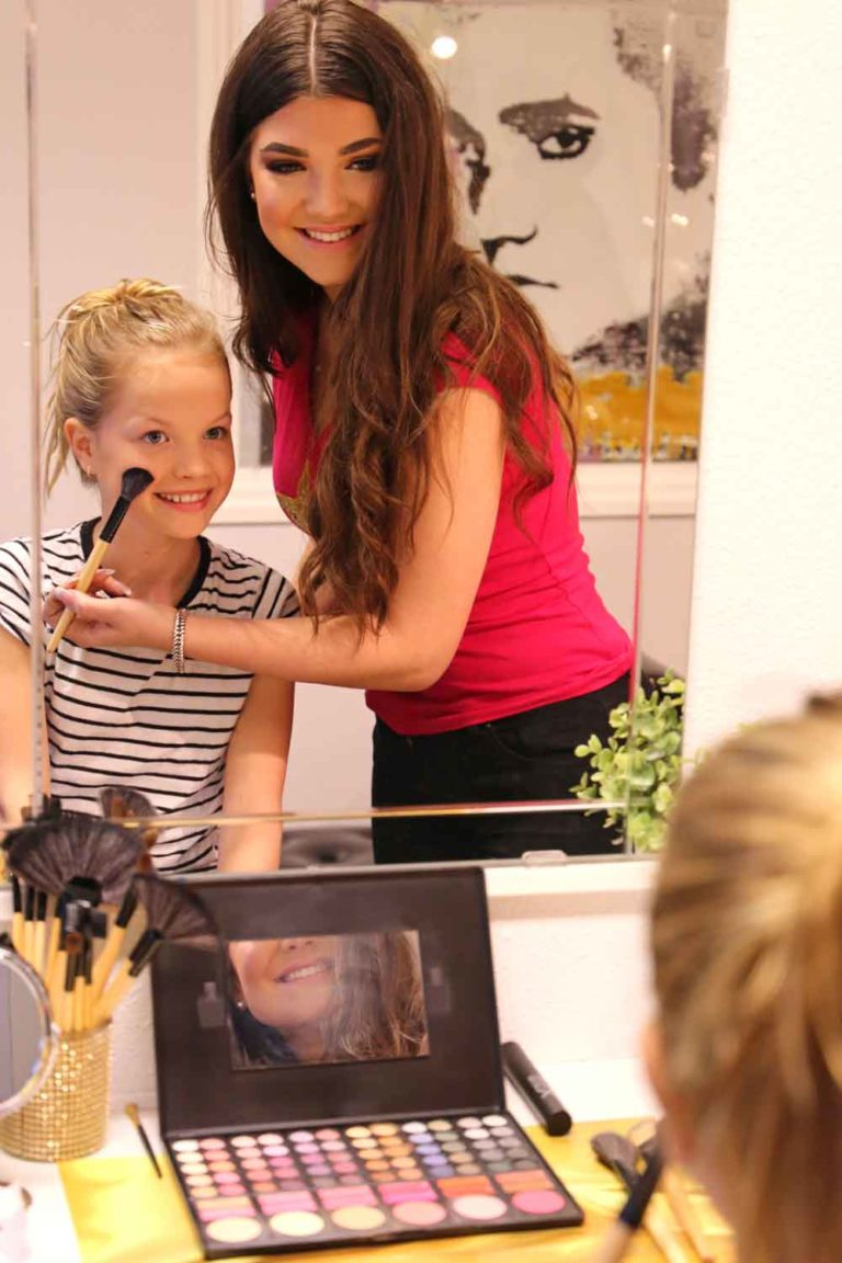 Kinderfeestje in Almere met make-up, visagie, styling en mini fotoshoot