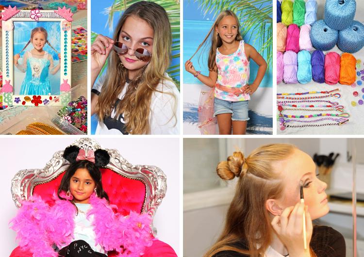 Glamour fotoshoot met fotolijstje knutselen vakantie activiteit bij Star For A Moment Almere