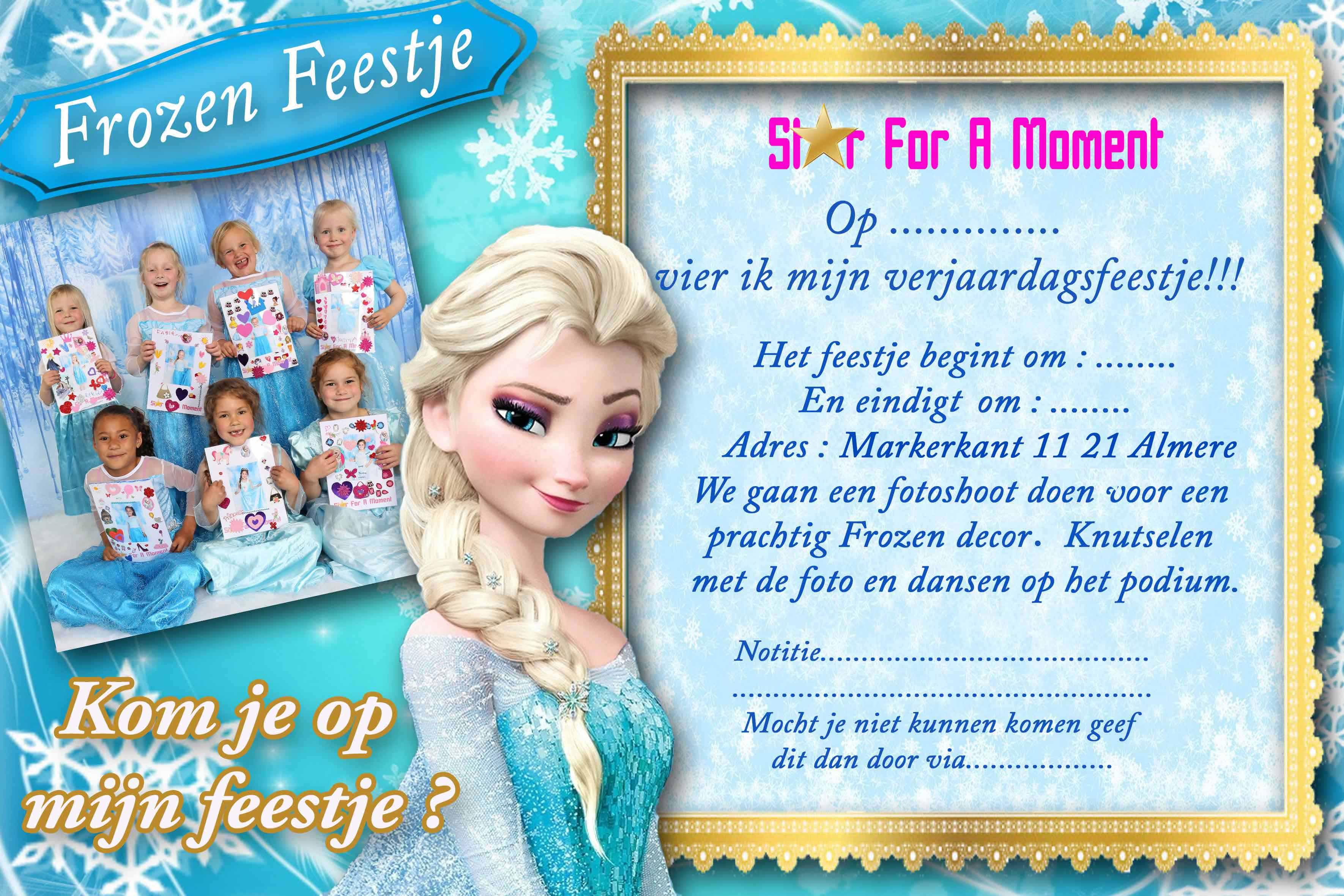 Goede Uitnodigingen kinderfeestjes - starforamoment.nl VJ-84