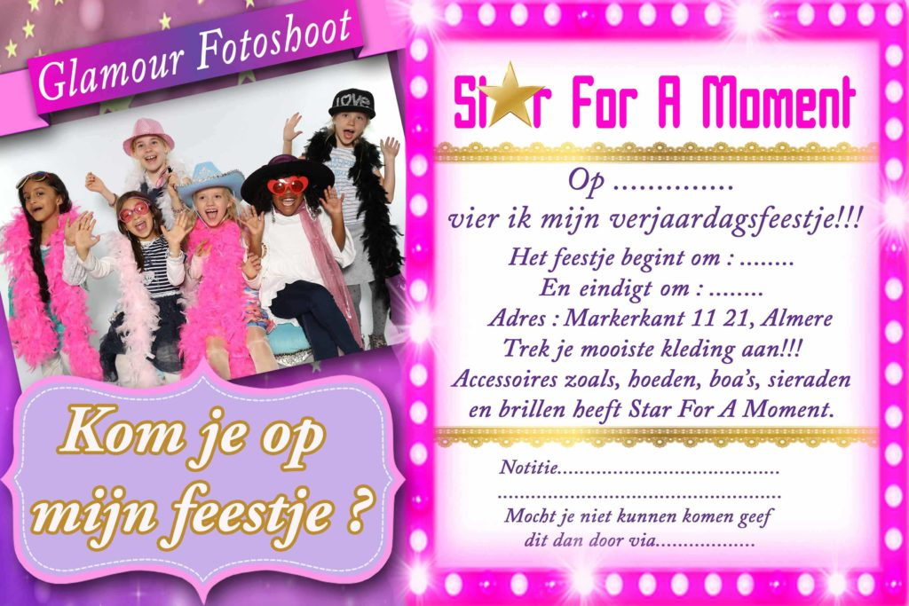 uitnodiging_glamour_fotoshoot_feestje_almere